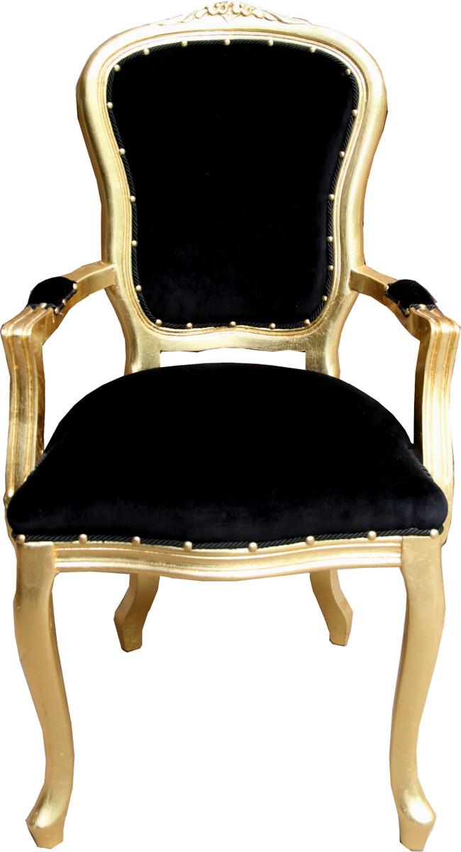 Esszimmer Schwarz Stuhl Casa Armlehnen Mit Padrino Luxus Barock DW29EeHYI