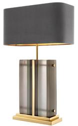 Casa Padrino Luxury Table Lamp Gold / Gray 45 x 22 x H. 73 cm - Hotel & Restaurant Table Light