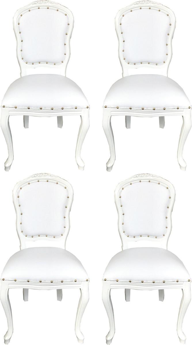 Sitzgruppe Esszimmer Weiss Honig: Casa Padrino Luxus Barock Esszimmer Set Weiß / Weiß 55 X