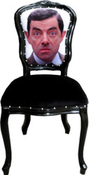 Casa Padrino Baroque Luxury Dining Chair Cartoon Design / Black - Designer Chair - Design Furniture