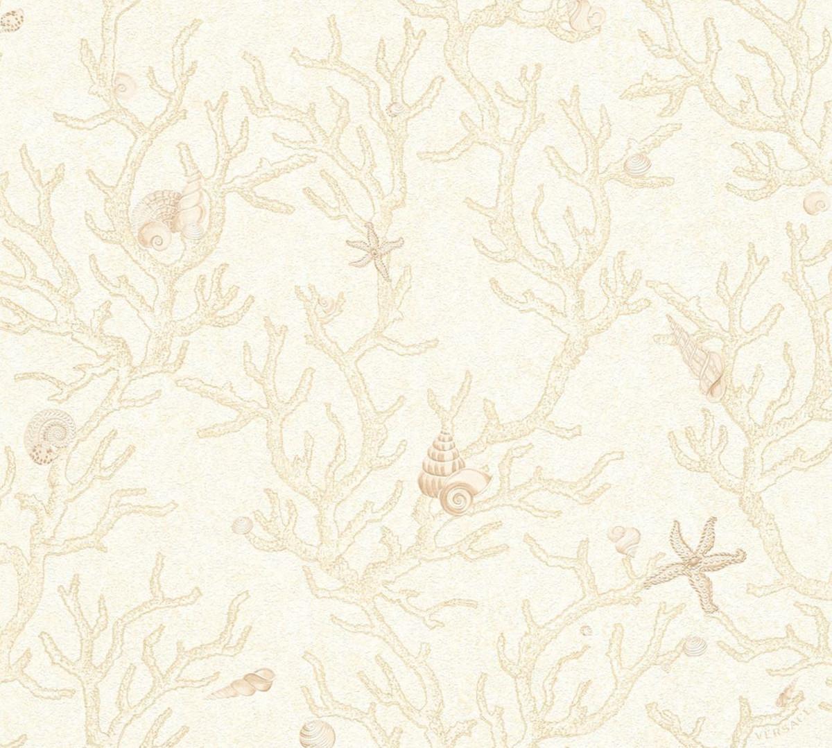 Carta Da Parati Tessuto versace barocco design carta da parati non tessuto carta da parati les  etoiles de la mer 344961 crema / beige metallizzato - carta da parati  design -