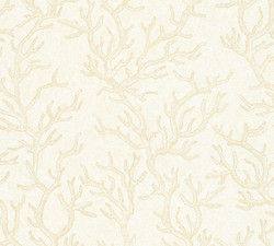 Versace Designer Baroque Non-Woven Wallpaper Les Etoiles de la Mer 344971 Cream / Beige - Design Wallpaper - High Quality
