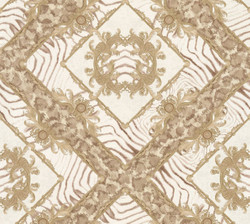 Versace Designer Baroque Non-Woven Wallpaper Vasmare 349041 Cream / Beige / Brown - High Quality - Decorative Accessories