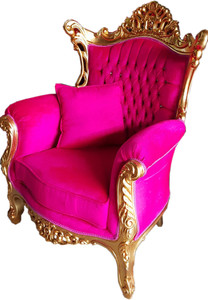 Casa Padrino Baroque Armchair Al Capone Black / Gold with Bling Bling Glitter - Limited Edition