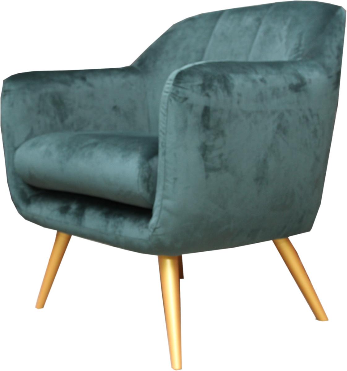 Casa Padrino Retro Salon Sessel Grun Gold Cocktailsessel 60er Jahre Stuhl Mobel