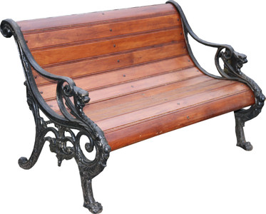 Casa Padrino Art Nouveau Garden Bench Brown / Black 113 x 73 x H. 72 cm - Bench with Armrests - Garden Furniture