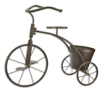 Casa Padrino deco bike with flowerpot brown 78.3 x 39 x H. 65.3 cm - Garden Decoration