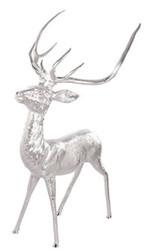 Casa Padrino aluminum reindeer deer figurine silver 73 x 82 x H. 150 cm - Deco Figurine