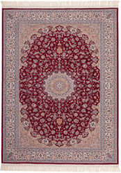 Casa Padrino Luxury Carpet Red - Various Sizes - Patterned Living Room Carpet with Fringe - Luxury Quality