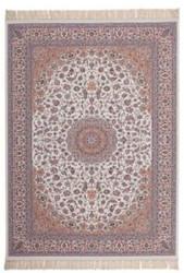 Casa Padrino Luxury Carpet Ivory - Various Sizes - Patterned Living Room Carpet with Fringe - Luxury Quality