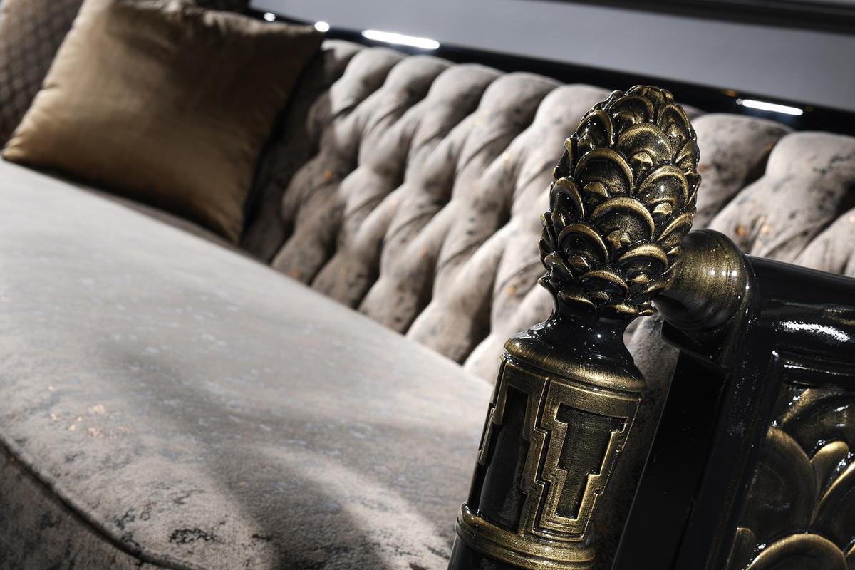 Stupendous Casa Padrino Luxury Baroque Chesterfield Sofa Silver Gray Black Gold 231 X 94 X H 83 Cm Baroque Living Room Furniture Spiritservingveterans Wood Chair Design Ideas Spiritservingveteransorg