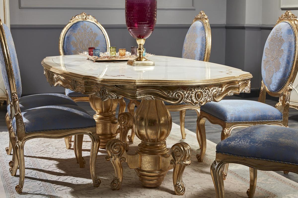 Casa Padrino ensemble de salle à manger baroque de luxe - Table à Manger  Somptueuse et 6 Chaises de Salle à Manger - Meubles de Salle à Manger ...