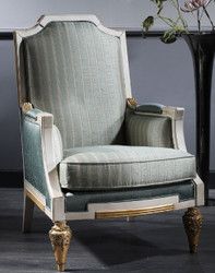 Casa Padrino Luxury Baroque Armchair Turquoise / White / Gold 70 x 80 x H. 112 cm - Baroque Living Room Furniture