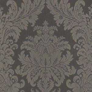 Casa Padrino Barock Textiltapete Anthrazit / Grau 10,05 x 0,53 m - Luxus Wohnzimmer Tapete