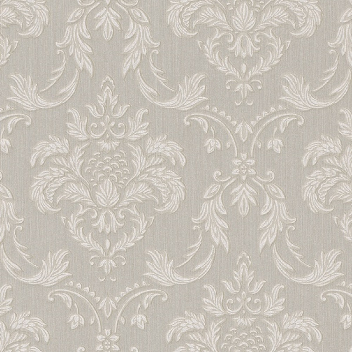 Casa Padrino Barock Textiltapete Grau / Weiß / Beige 10,05 x 0,53 m -  Wohnzimmer Tapete im Barockstil - Hochwertige Qualität