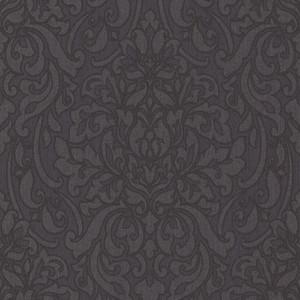 Casa Padrino Barock Textiltapete Anthrazit / Schwarz / Grau 10,05 x 0,53 m - Deko Accessoires