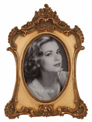Casa Padrino Baroque Picture Frame Antique Bronze / Beige 21.2 x H. 28.9 cm - Magnificent Picture Frame in Baroque Style