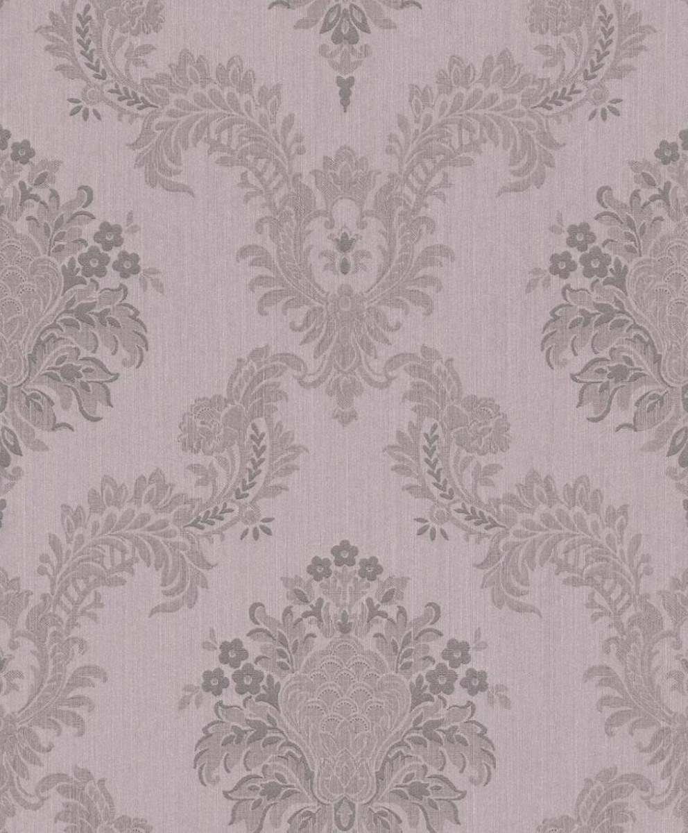 Casa Padrino Barock Textiltapete Flieder / Grau 10,05 x 0,53 m -  Hochwertige Wohnzimmer Tapete im Barockstil | Ceres Webshop