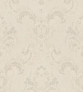 Casa Padrino Barock Textiltapete Beige / Grau 10,05 x 0,53 m - Hochwertige Wohnzimmer Tapete im Barockstil
