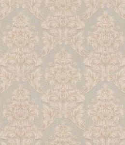 Casa Padrino Barock Textiltapete Beige / Grau 10,05 x 0,53 m - Tapete im Barockstil