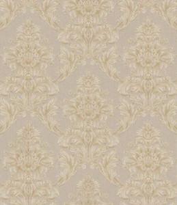 Casa Padrino Barock Textiltapete Beige / Creme / Grau 10,05 x 0,53 m - Tapete im Barockstil