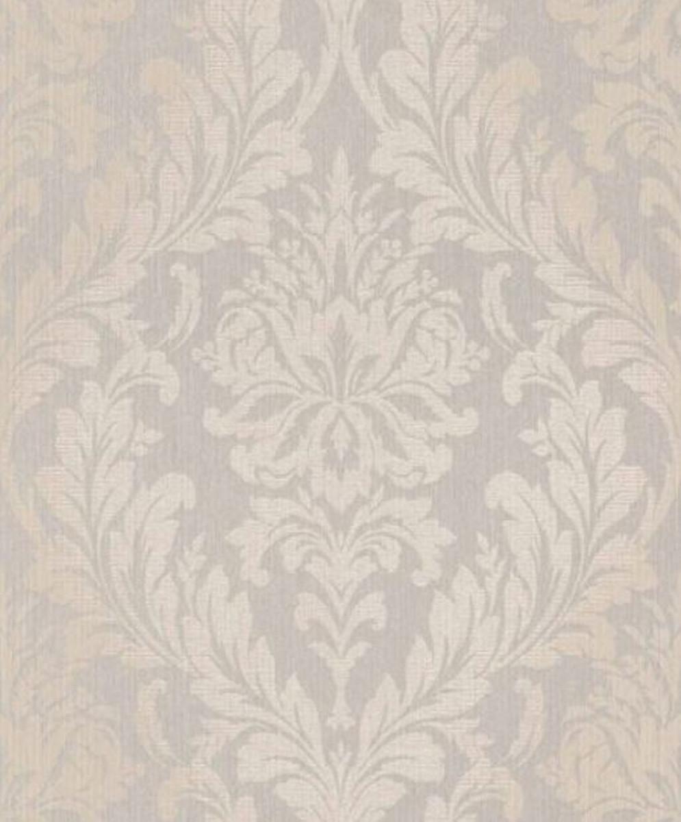 Casa Padrino Barock Textiltapete Grau / Beige 10,05 x 0,53 m - Wohnzimmer  Tapete - Deko Accessoires im Barockstil