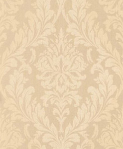 Casa Padrino Barock Textiltapete Apricot / Creme 10,05 x 0,53 m - Wohnzimmer Tapete - Deko Accessoires im Barockstil