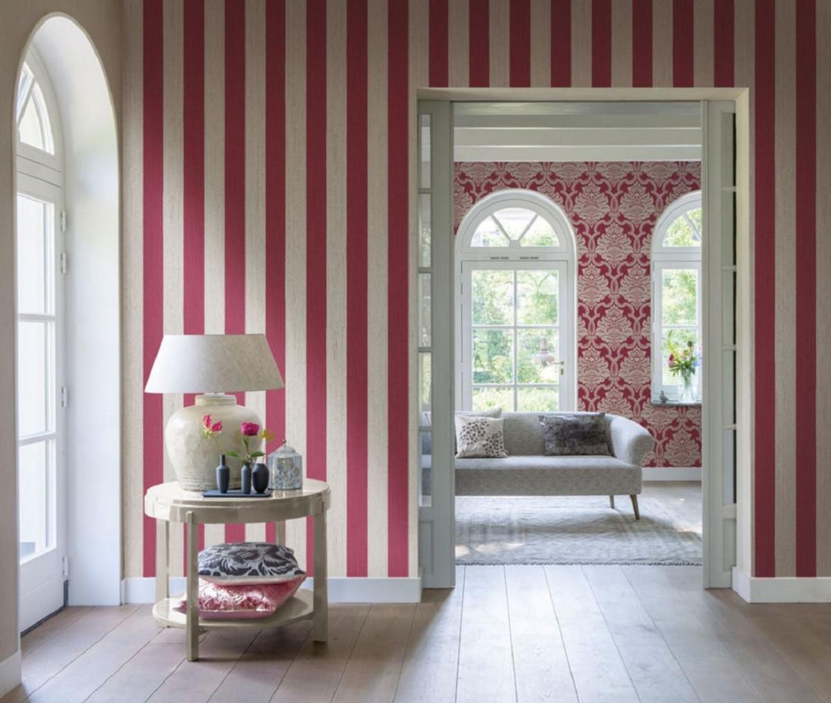 Casa Padrino Barock Textiltapete Rot 10,05 x 0,53 m - Barock Tapete - Deko  Accessoires
