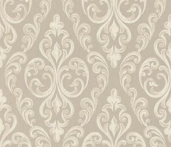 Casa Padrino Barock Textiltapete Beige / Creme 10,05 x 0,53 m - Hochwertige Wohnzimmer Tapete