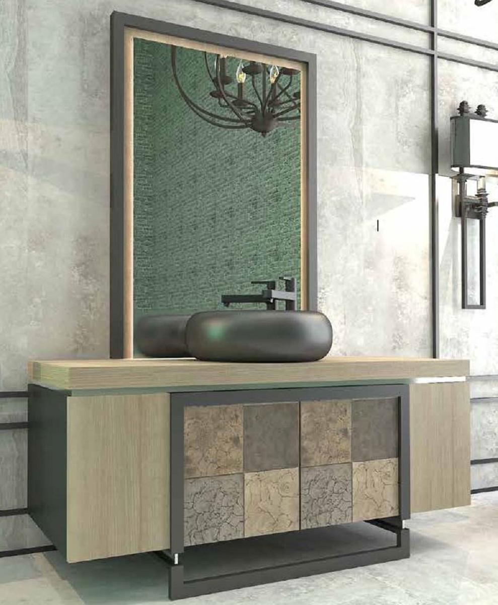 Casa Padrino Luxus Badezimmer Set Naturfarben / Mehrfarbig ...