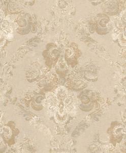 Casa Padrino Barock Textiltapete Beige / Gold 10,05 x 0,53 m - Wohnzimmer Deko Accessoires