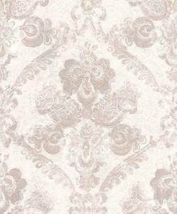 Casa Padrino Barock Textiltapete Weiß / Rosa 10,05 x 0,53 m - Wohnzimmer Deko Accessoires