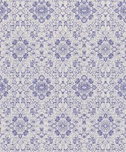 Casa Padrino Barock Tapete Grau / Lila 10,05 x 0,53 m - Textiltapete im Barockstil