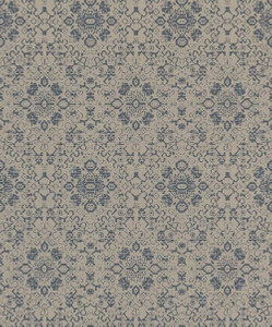 Casa Padrino Barock Tapete Grau / Blau 10,05 x 0,53 m - Textiltapete im Barockstil