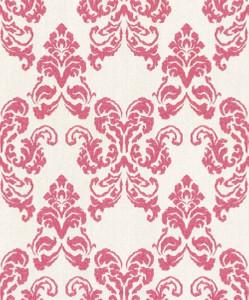 Casa Padrino baroque textile wallpaper white / red 10.05 x 0.53 m - Decoration Accessories in Baroque Style