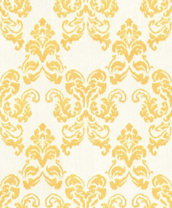 Casa Padrino baroque textile wallpaper white / gold 10.05 x 0.53 m - Decoration Accessories in Baroque Style