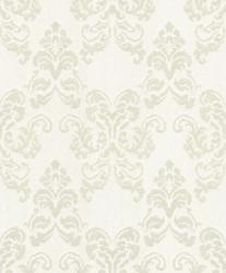 Casa Padrino Barock Textiltapete Creme / Silber 10,05 x 0,53 m - Deko Accessoires im Barockstil
