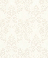 Casa Padrino baroque textile wallpaper white / silver 10.05 x 0.53 m - Decoration Accessories in Baroque Style 1