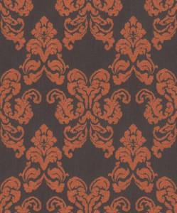 Casa Padrino baroque textile wallpaper black / terracotta 10.05 x 0.53 m - Decoration Accessories in Baroque Style