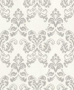 Casa Padrino baroque textile wallpaper beige / silver 10.05 x 0.53 m - Decoration Accessories in Baroque Style