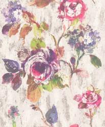 Casa Padrino baroque non-woven wallpaper gray / multicolor 10.05 x 0.53 m - Wallpaper with Floral Pattern - Decorative Accessories