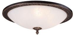 Casa Padrino Barock Deckenleuchte Bronze / Weiß Ø 47 x H. 18,5 cm - Runde Deckenlampe im Barockstil