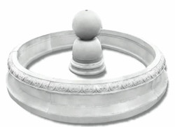 Casa Padrino Baroque Fountain White Ø 240 x H. 90 cm - Round Garden Fountain in Baroque Style