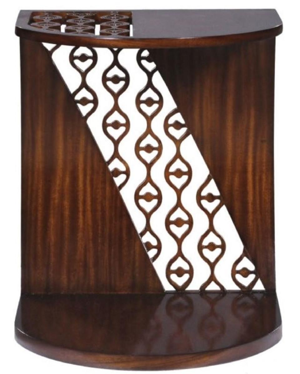 Casa Padrino Luxus Mahagoni Snack Tisch / Beistelltisch Dunkelbraun 42 x 43  x H. 55 cm - Luxus Möbel