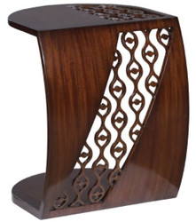 Casa Padrino Luxury Mahogany Snack Table / Side Table Dark Brown 42 x 43 x H. 55 cm - Luxury Furniture