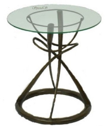 Casa Padrino designer dining table bronze Ø 71 x H. 70 cm - Round Dining Room Table with Glass Top - Luxury Quality