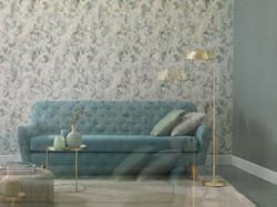 Casa Padrino baroque non-woven wallpaper green / grey 10.05 x 0.53 m - Living Room Wallpaper - Decorative Accessories 2