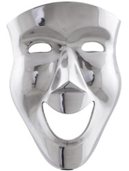 Casa Padrino luxury decorative aluminum mask silver 31 x 14 x H. 46 cm - Luxury Wall Deco