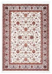 Casa Padrino Living Room Carpet with Oriental Ornaments Cream / Multicolor - Various Sizes