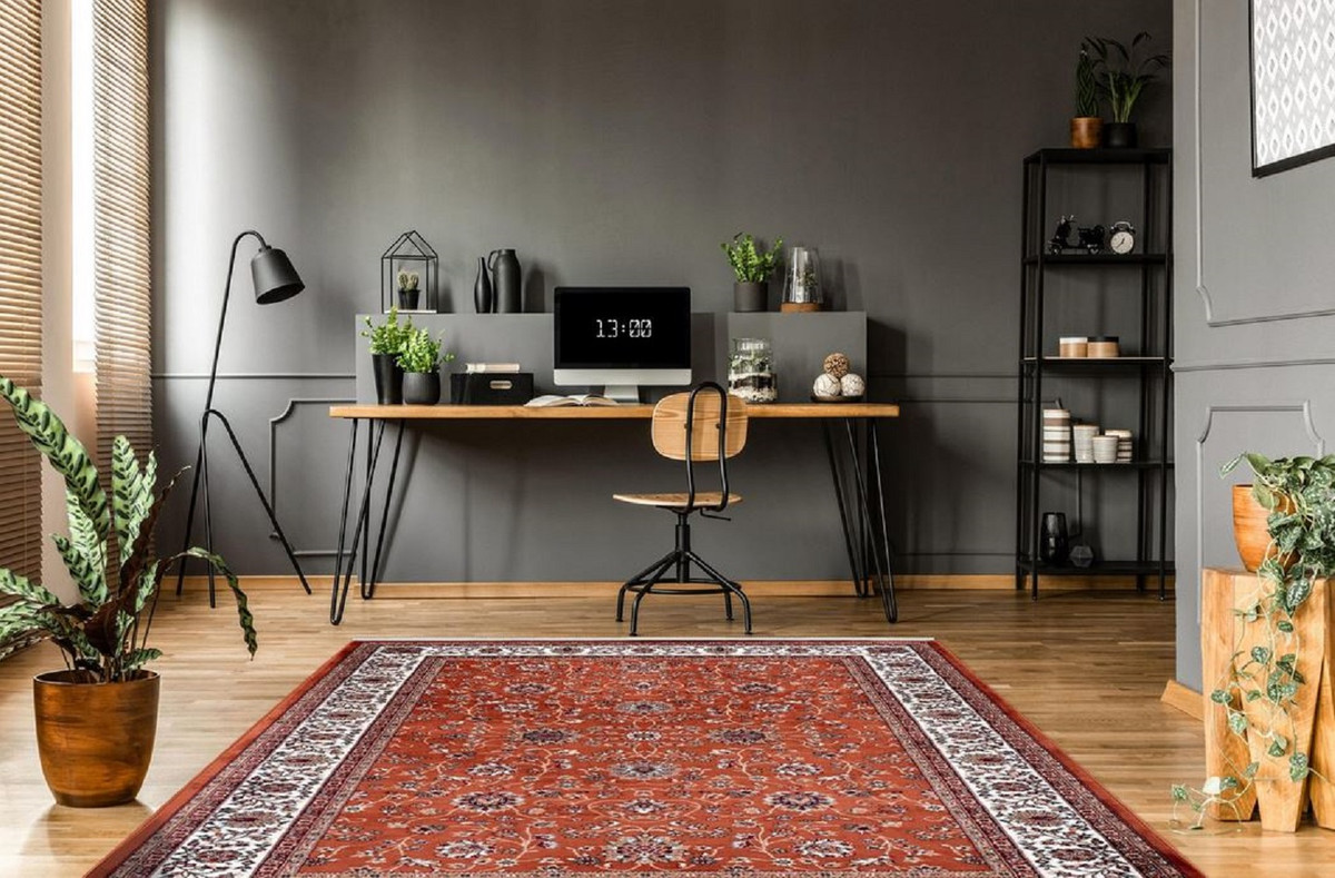 Tapis Salon Couleur Rouille casa padrino tapis de salon avec ornements orientaux rouille / multicolore  - différentes tailles